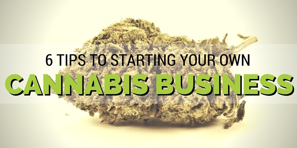 6 Tips To Starting Your Own Cannabis Business